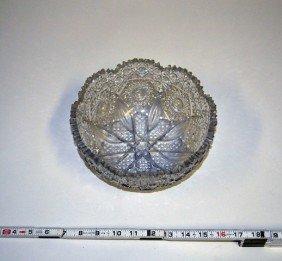 4: Cut Crystal Bowl with Eight Leaf Design