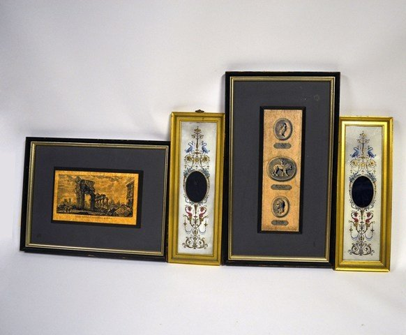 5: Two Pair Neo-Classical Wall Decorations