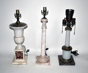 17: Group of Three Neo-Classical Style Table Lamps