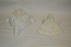 21: Two Cast Plaster Art Deco Style Sconces
