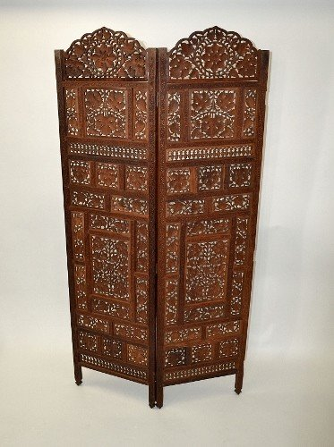 18: Carved Two Fold Screen