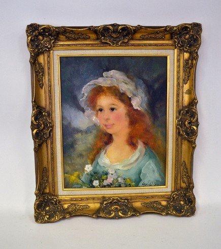 19: Gutierrez, Oil on Canvas Portrait
