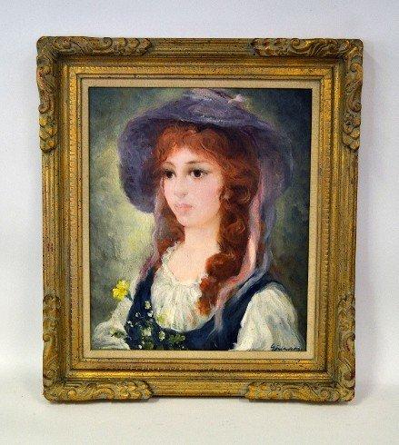 20: Gutierrez, Oil on Canvas Portrait