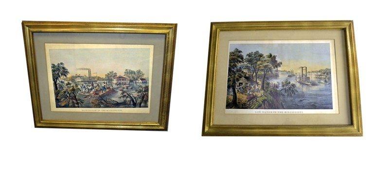 7: Pair Currier & Ives Prints
