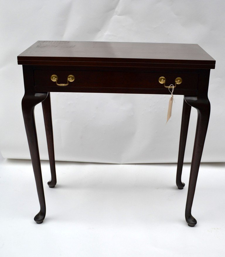 Mahogany One Drawer Game Table