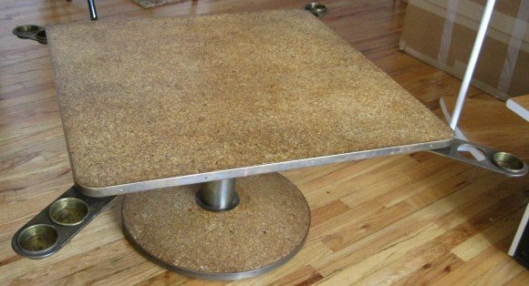 Dunbar Brass and Cork Top Game Table