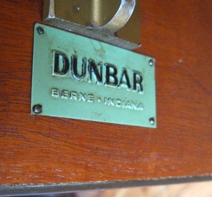 Dunbar Brass and Cork Top Game Table - 5