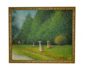 Lopetequi Impressionist Style Oil On Canvas