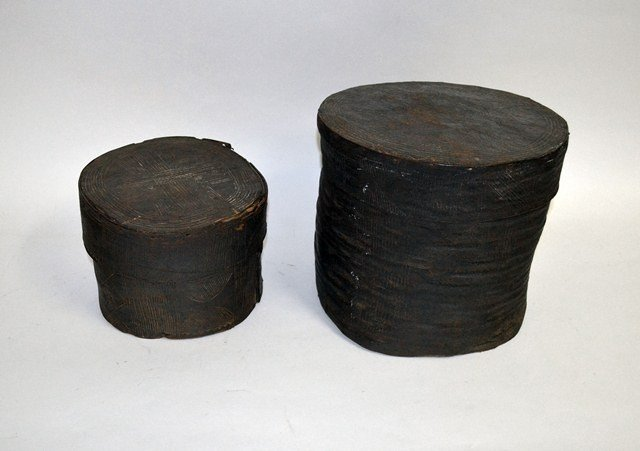 Two Senufo Carved Wood Boxes