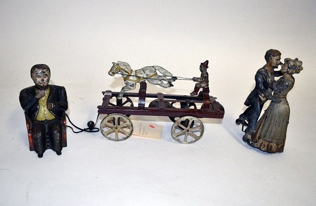 Three Antique Mechanical Toys