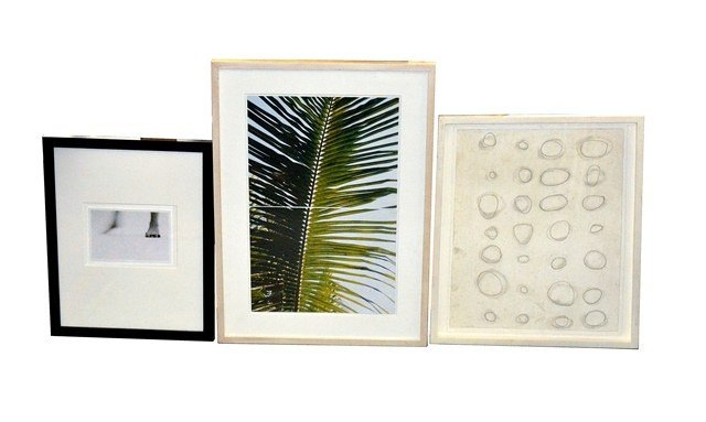 Group of Three Framed Contemporary Works