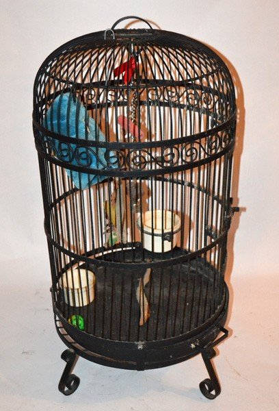 446A: Large Standing Bird Cage