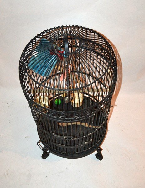 446A: Large Standing Bird Cage - 3