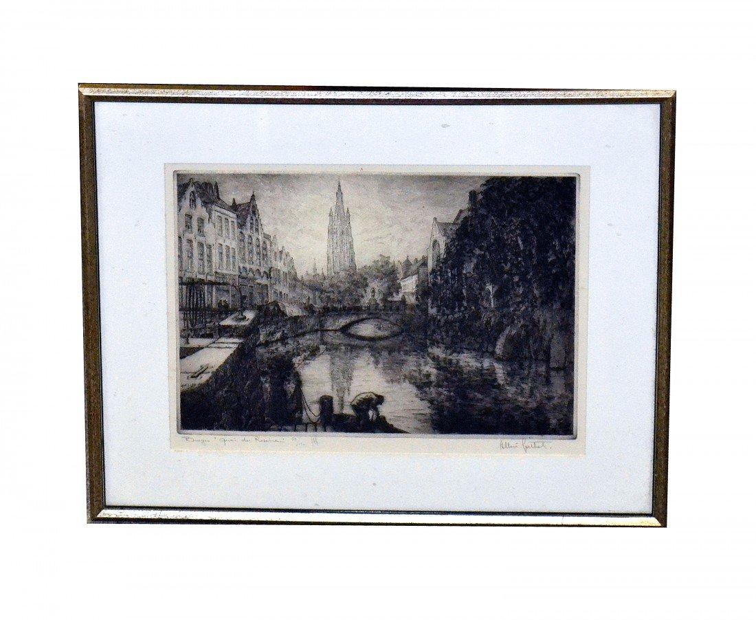 22: Framed Print Canal Scene