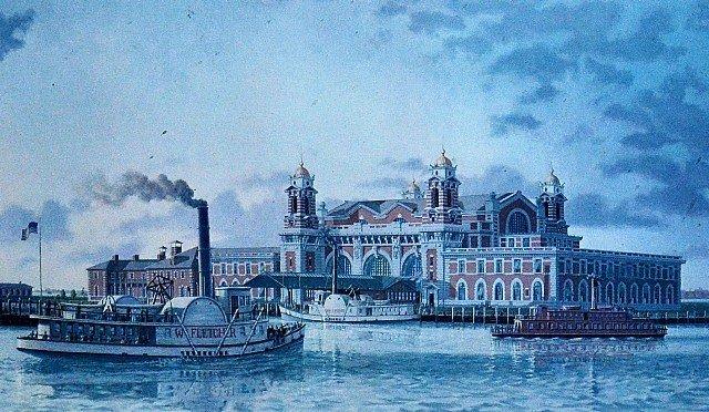23: Thomas R. Colletta Print, Ellis Island  - 2