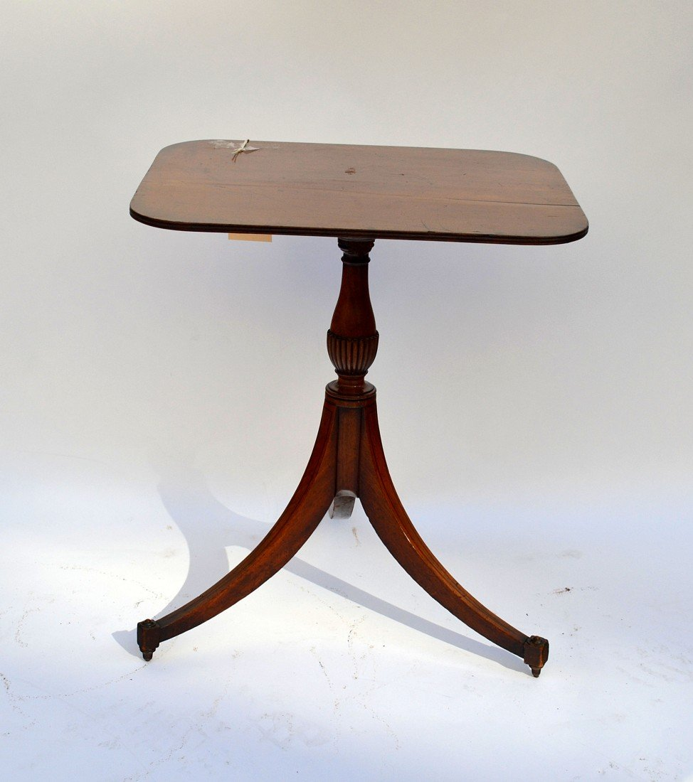 6: Antique Georgian Style Tea Table