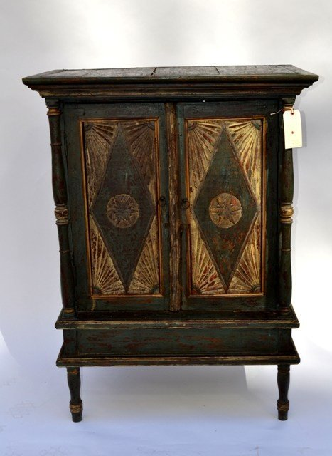 9: Distressed Pennsylvania Dutch Style Cabinet