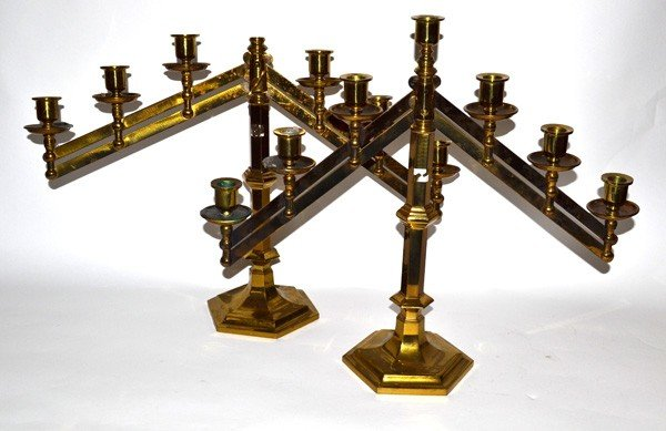 3: Pair of Brass Candlesticks
