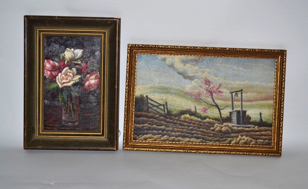 21: Two Framed Oil Paintings