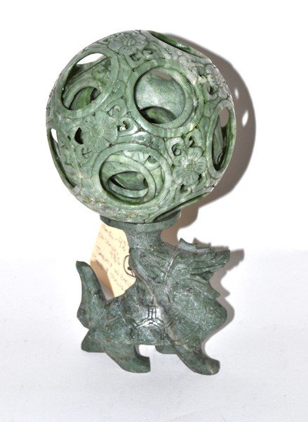 24: Pierced & Carved Jadeite Wizard Ball