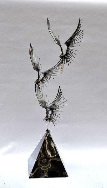 224: Curtis Jere Style  Birds in Flight Sculpture