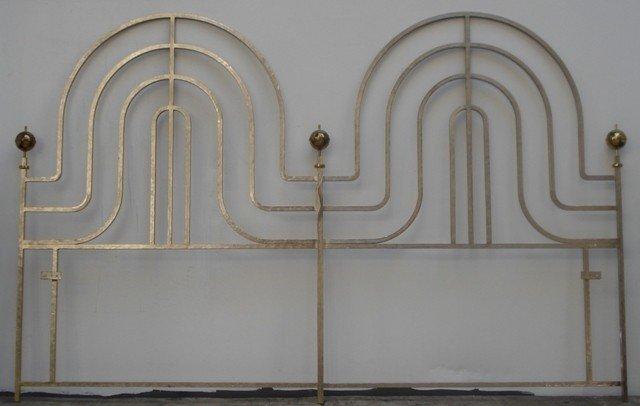 261: Tommi Parzinger Swedish Steel-Finish Bed