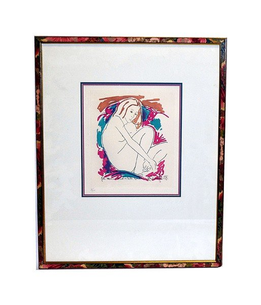 50: Lithograph, Female Nude