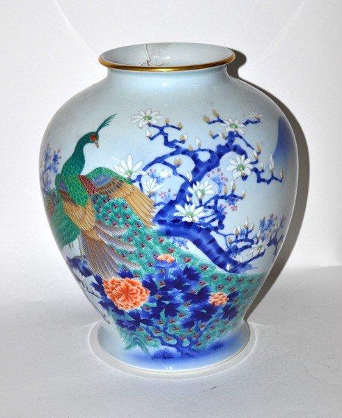 "217: Japanese ""Fukagawa"" Vase"
