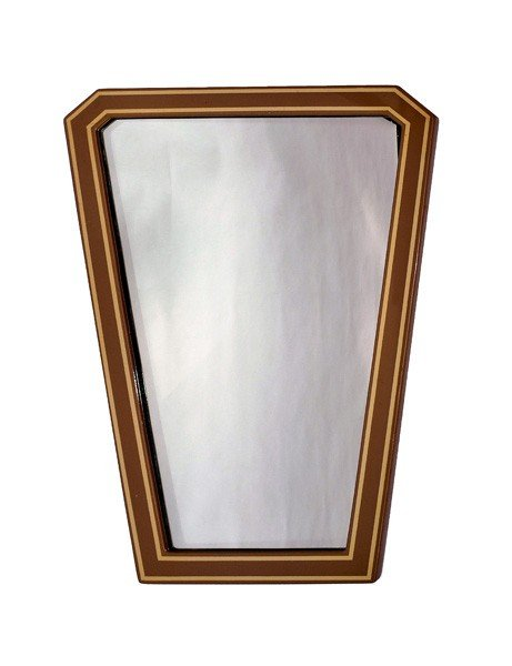 226: American Mid-Century Lacquer Surround Mirror