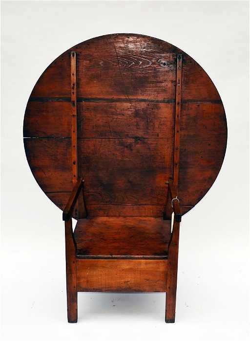 - 87: Antique Tilt-Top Table Chair