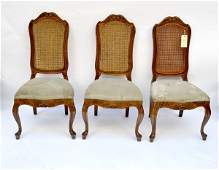 135 Set of Four French Provencial Style Chairs