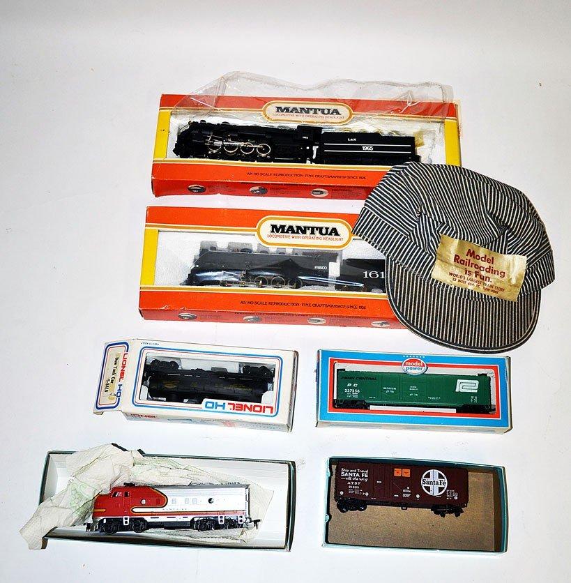 "19: Lot of ""HO"" Scale Locomotives & Box Cars"