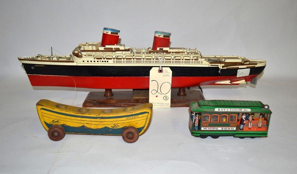 20: Three Vintage Transportation Toys