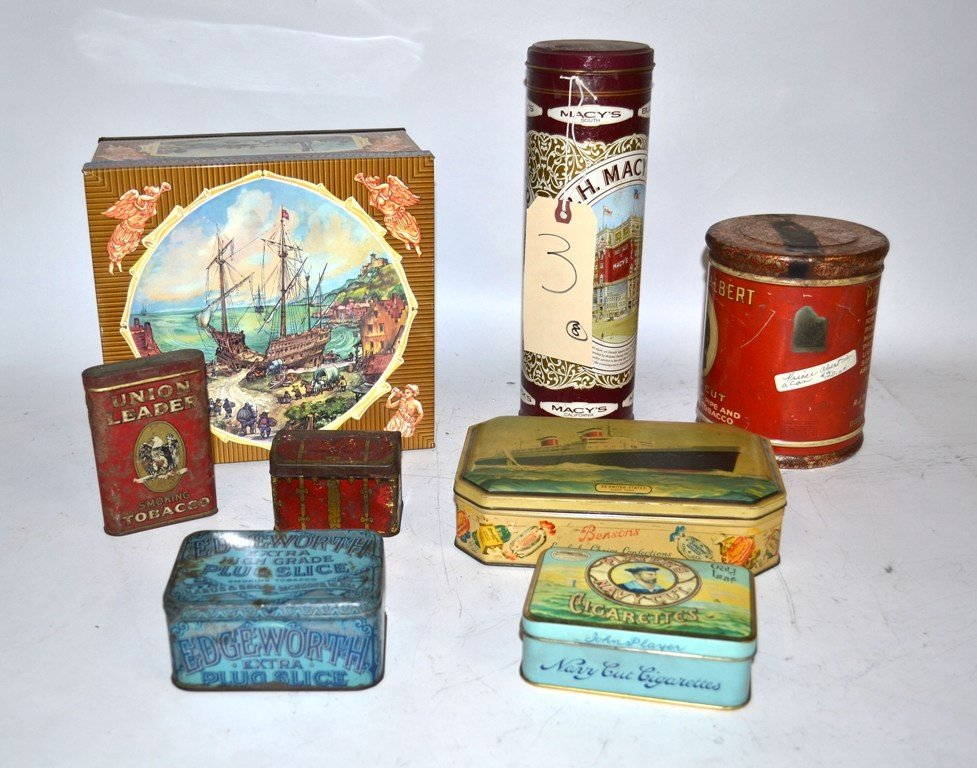 3: Group of 4 Antique Tobacco Tins with Others, 8 total