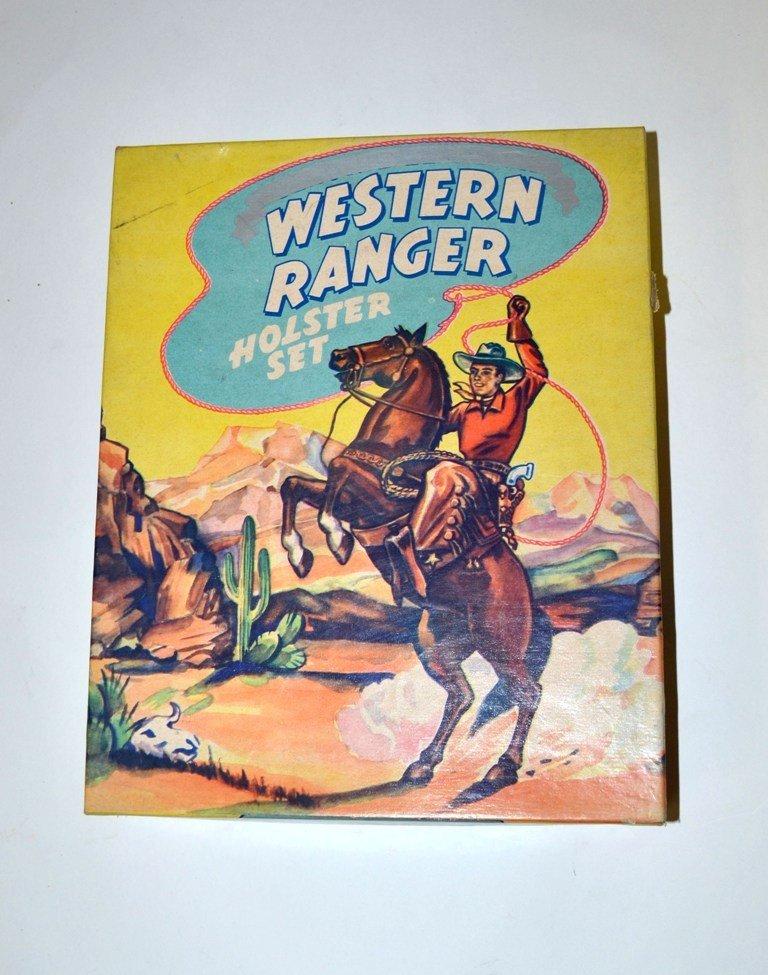 """8: Vintage """"Western Ranger Holster Set"""""""