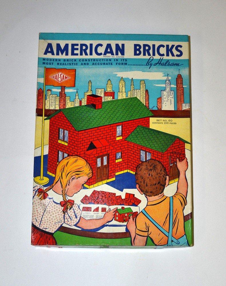"""9: Vintage """"American Bricks Set No. 60"""""""