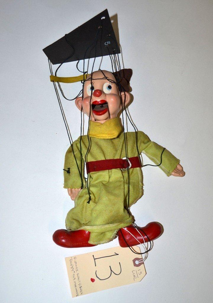 "13: Vintage Walt Disney ""Dopey"" Toy Marionette"