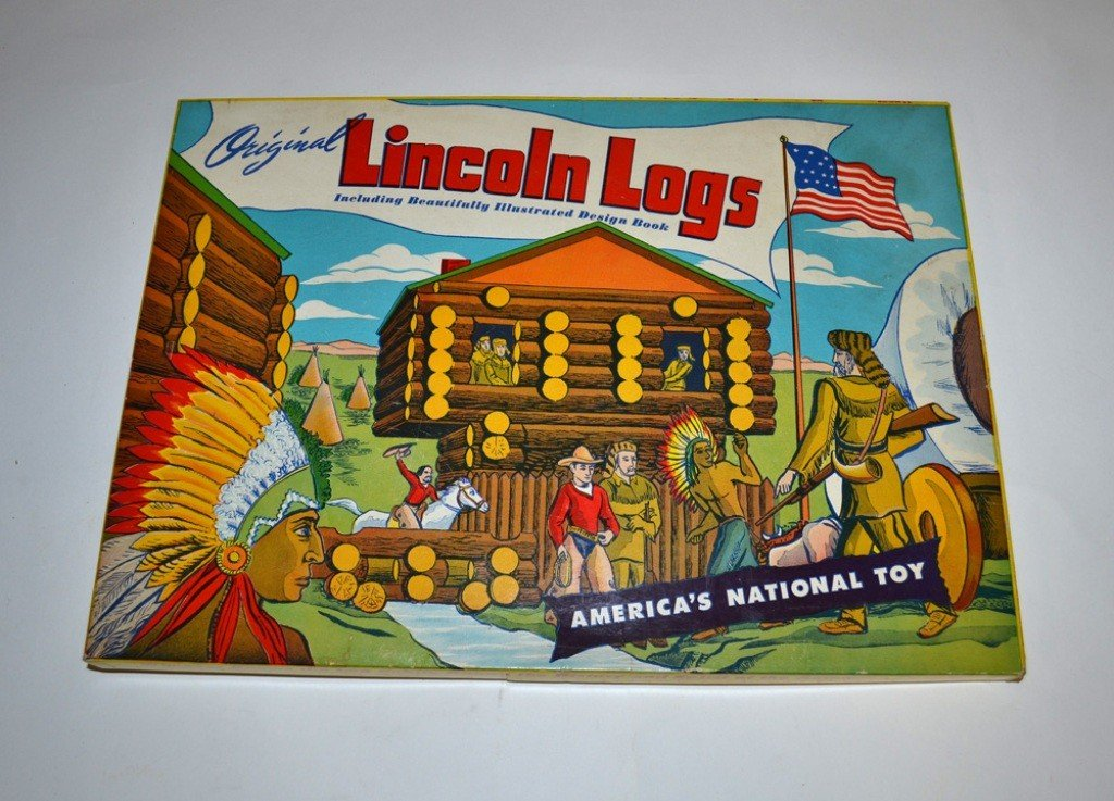 "12: Vintage ""Original Lincoln Logs - 1L"" Set"