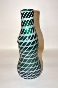 307: Venini Modern Green Glass Vase
