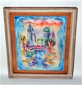 """685: Elizabeth Carton, Watercolor, """"City Lights"""""""