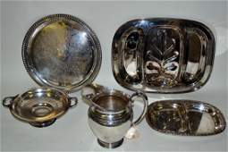 79 Group of Five Silver Plate Serving Articles
