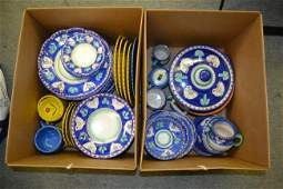 693 Two Partial Italian Ceramic Dinner Services 60