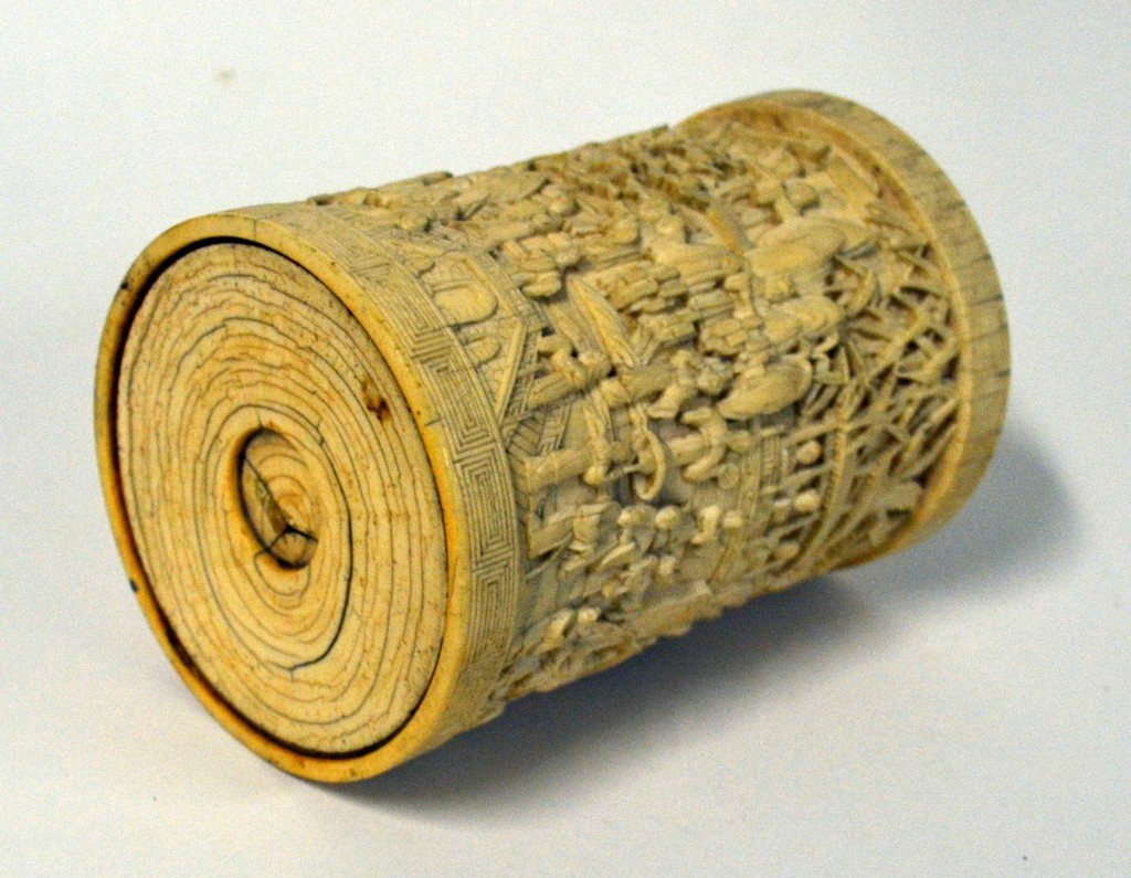 791: Ivory Relief Vessel - 5