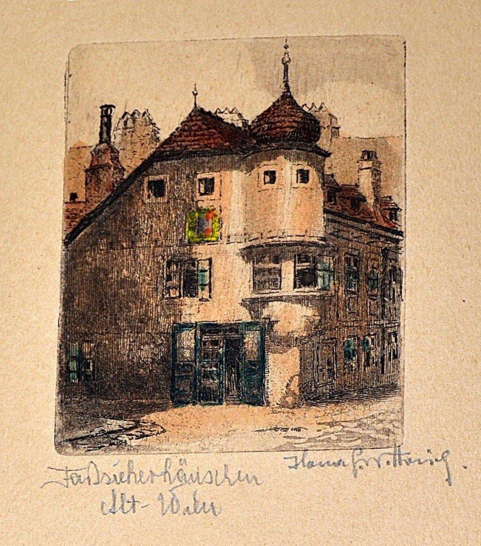 1: 1920s German Countryside Etchings (10) - 10
