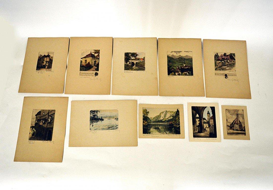 1: 1920s German Countryside Etchings (10)