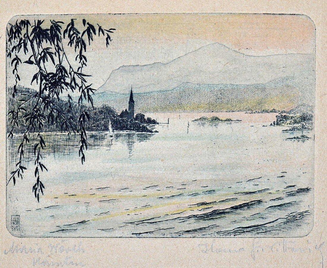 1: 1920s German Countryside Etchings (10) - 2