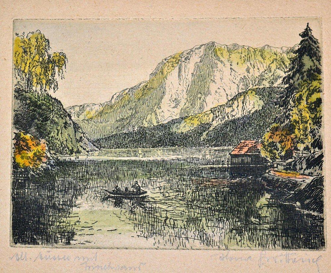 1: 1920s German Countryside Etchings (10) - 3