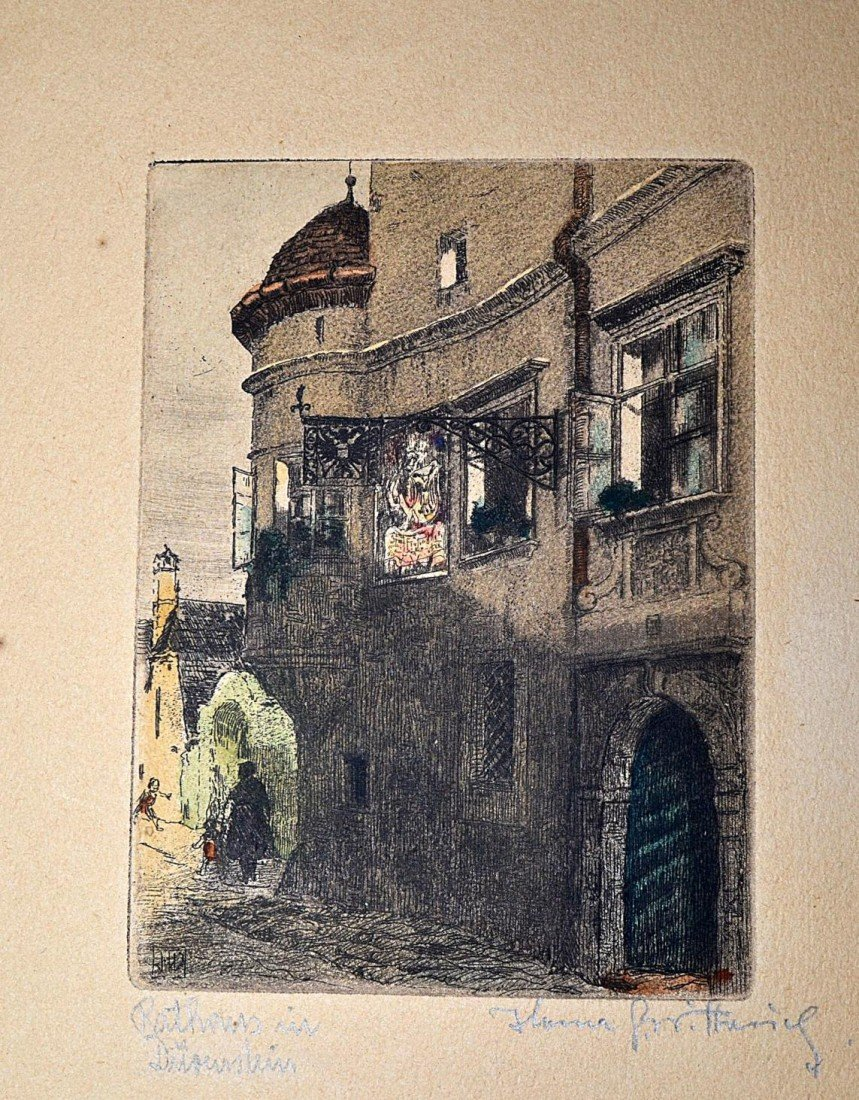1: 1920s German Countryside Etchings (10) - 6