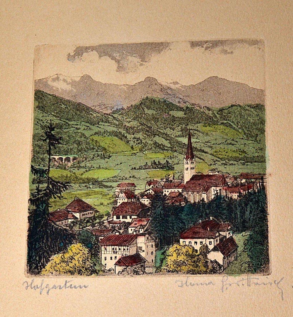 1: 1920s German Countryside Etchings (10) - 7