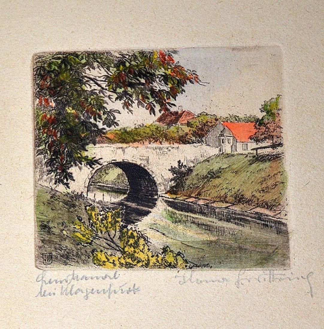 1: 1920s German Countryside Etchings (10) - 8